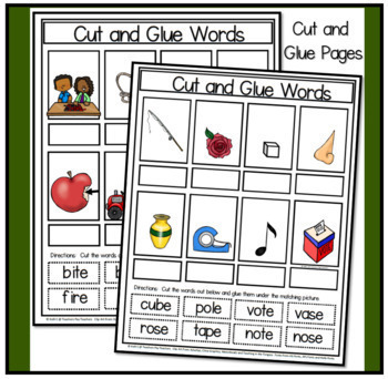 4 Letter Word Flashcards and Work Mats