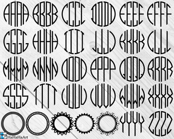 Four Letters Monogram Clip Art And Cutting Files Digital Files Cod181