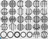 Four Letters Monogram - Clip Art and Cutting Files Digital Files cod181