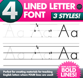 Four Lined Alphabet Letter Tracing Font • Teaching English in CHINA