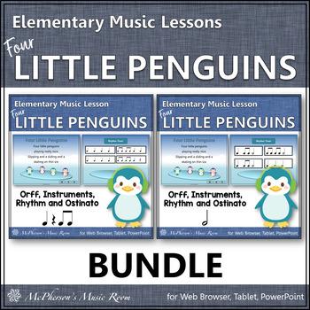 Four Little Penguins: Orff, Rhythm, Ostinato, Form & Instruments (Bundle Set)