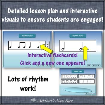 Winter Music Lesson ~ Four Little Penguins: Orff, Rhythm & Instruments {Bundle}
