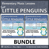 Winter Music Lesson ~ Four Little Penguins: Orff, Rhythm & Instruments {Bundle}