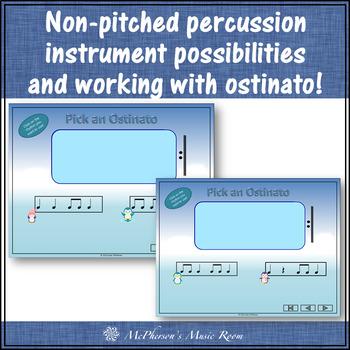Winter Music Lesson ~ Four Little Penguins: Orff, Rhythm & Instruments {half}