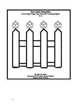 Four Little Pumpkins - A Fun Finger Play For Teaching Engl