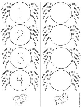 Four Little Spiders - Retell and Number Sense Fun