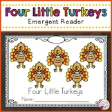 Four Little Turkeys-Thanksgiving-Emergent Reader