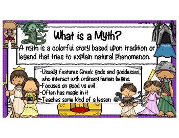 Four MORE Fabulous Greek Myths with Reading Comprehension Questions!