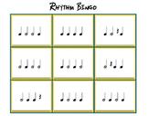 Four Note Rhythm Bingo