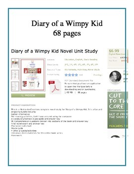 Four Novel Studies: Charlotte's Web, Maniac Magee, Diary of a Wimpy Kid, Holes