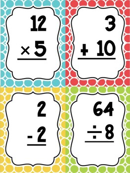 Four Operations Flashcards **Cheaper than the Dollar Tree**