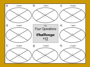 Four Operations Math Challenge
