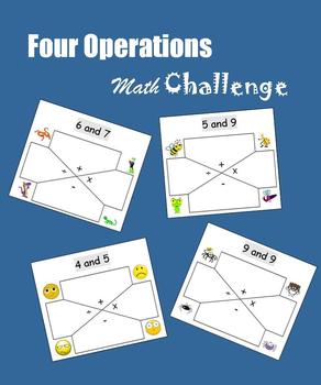 Math Centers:  Four Operations