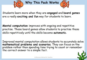 Maths Four Operations Board Games Add, Subtract, Multiply, Divide Pack 4