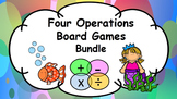 Maths Four Operations Board Games Bundle Add, Subtract, Multiply, Divide