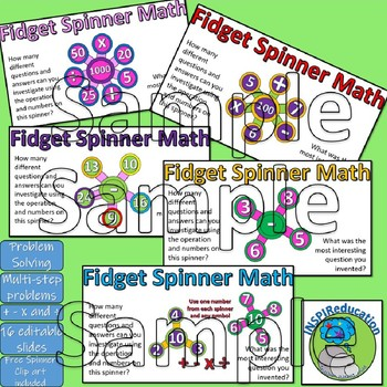 Four Operations - Problem Solving, independent learning (Fidget Spinner Maths)