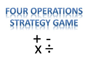 Four Operations Strategy Game Board