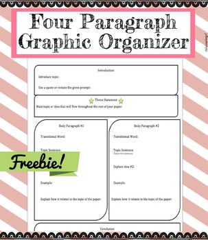 four paragraph essay graphic oraganizer by thelessonplangirl tpt four paragraph essay graphic oraganizer