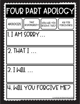 Four Part Apology