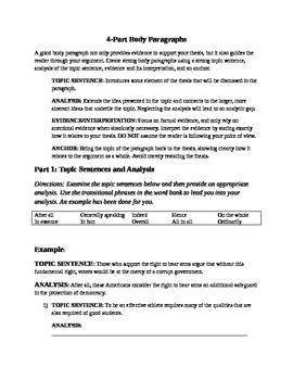 Four-Part Body Paragraphs