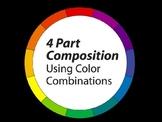 Four Part Composition Art Activity - Color Theory