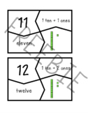 Four-Part Teen Number Cards