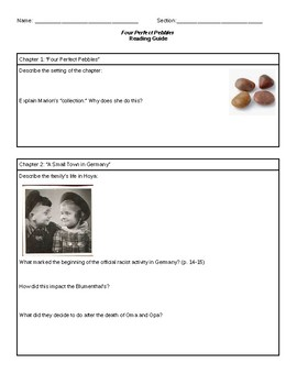 Four Perfect Pebbles Guided Reading