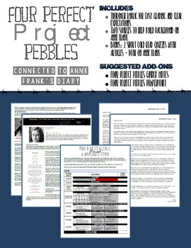 Four Perfect Pebbles Narrative Writing Project (connected to Anne Frank's Diary)