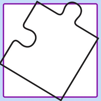 Four Piece Jigsaw Puzzle Blank Templates With Separate Pieces