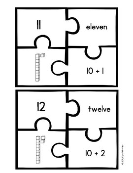Four Piece Number Puzzles: Teens