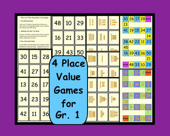 Four Place Value Games for Gr. 1