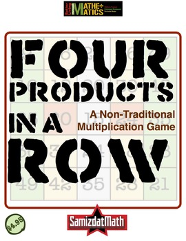 Multiplication Practice Game: Four Products in a Row