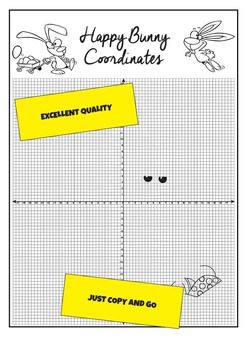 Four Quadrant, Cartesian Plane, Coordinate Plotting Math Sheet. Grades 5-7.