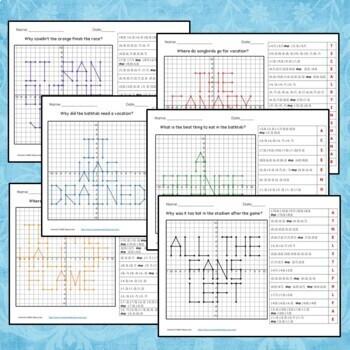 Coordinate Grid Riddles (Four Quadrants) 6.NS.6c