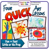 Art Lesson Bundle  Four Quick Activities