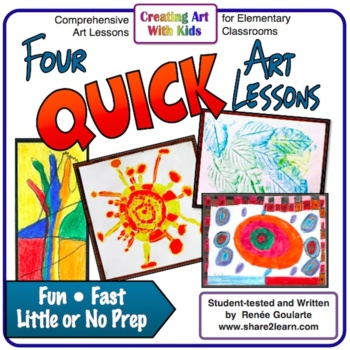 Art Lesson Bundle  Four Quick Activities