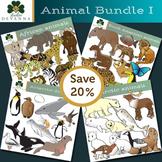Four Regions Animal Clip Art Bundle
