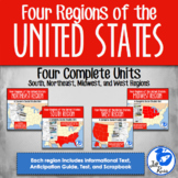 Four Regions of the United States: 4 complete units Bundle