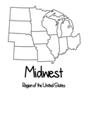 Four Regions of the United States Maps & Test