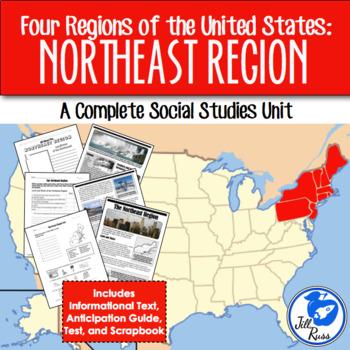 Northeast Region Map Quiz Teaching Resources | Teachers Pay Teachers
