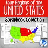 Four Regions of the United States: Scrapbook Bundle