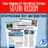 South Region Informational Text {Four Regions of the Unite