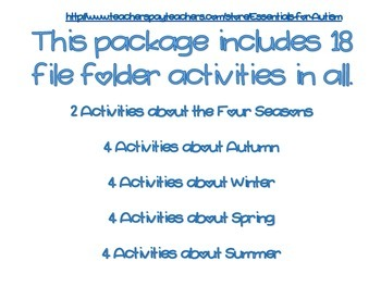 Four Season File Folders (18 total)