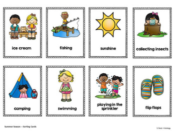 Seasons - Games- Activities - Centers and Printables