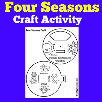 Four Seasons First Grade | Four Seasons Craft | Four Seasons Activity