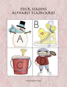 Four Seasons Alphabet Flashcards