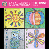 Four Seasons - Winter, Spring, Summer, & Fall Interactive Coloring Sheets