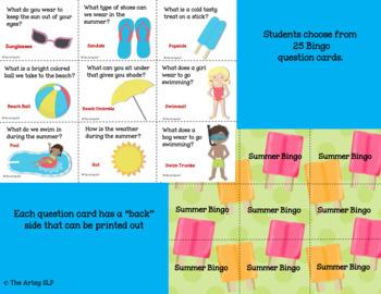 """Four Seasons Bingo Bundle (""""Wh"""" Questions)"""