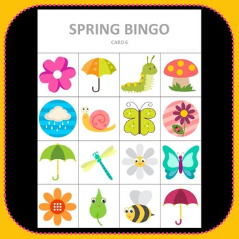 picture about Spring Bingo Game Printable identify 4 Seasons Bingo Deal - Lovely Bingo Video games for Just about every Period Exciting Printable Video games