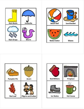 Four Seasons Bingo! (Spring Summer Fall Winter)